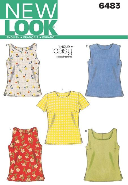 Misses Tops New Look Sewing Pattern No
