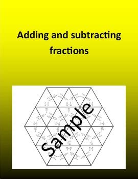Adding and subtracting fractions 2 – Math puzzle by Math