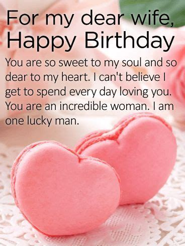 Send sweet words to your wife on her birthday