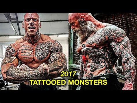 Biggest Tattooed Bodybuilders In The World 2017 | Real