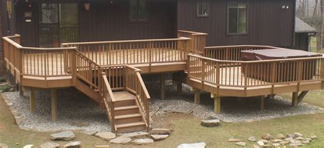 two level outdoor decks | collection of deck photos