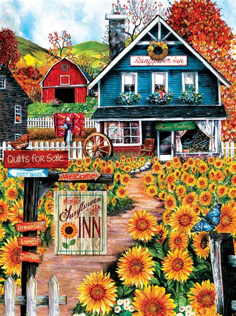 At the Sunflower Inn, 1000 Pieces, SunsOut   Puzzle Warehouse