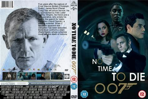 No Time To Die (2021) Custom R2 DVD Cover and Label