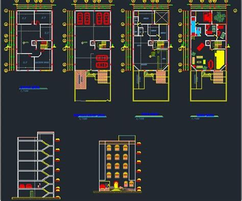 3 bedroom apartment plan Archives - free cad plan
