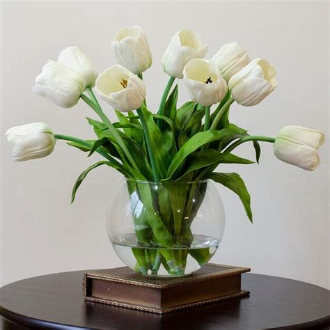 Real Touch White Tulips Arrangement – Flovery