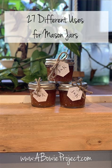 27 Different Uses for Mason Jars - A Bowie Project