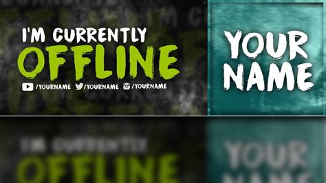 Twitch OFFLINE Banner & Profile Picture FREE Template