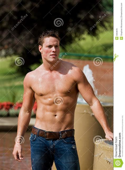 Athletic Male Model Royalty Free Stock Images - Image: 5953879