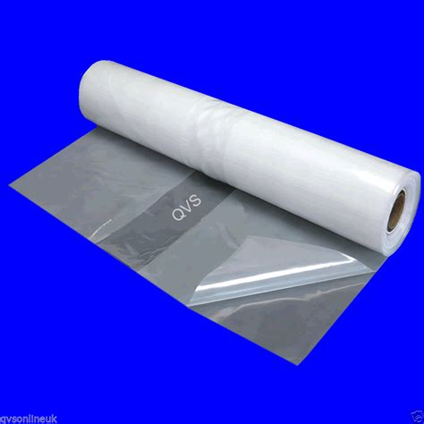 HEAVY DUTY CLEAR POLYTHENE 4M WIDE SHEETING Various