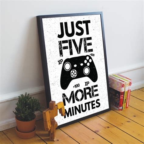 Framed Gaming Print For Wall Boys Bedroom Decor Xbox Fan Gift