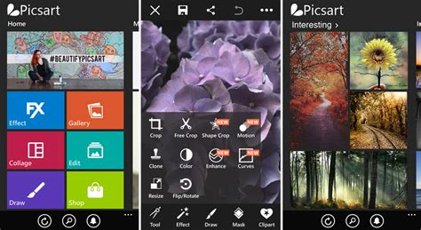 PicsArt for Windows Phone updated with new effects