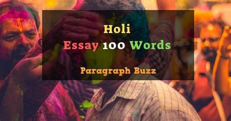100 Words Essay on Holi in English for Kids