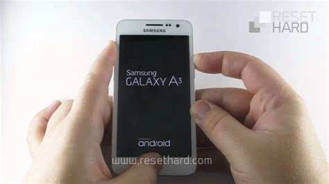 How To Hard Reset Samsung Galaxy A3 - YouTube
