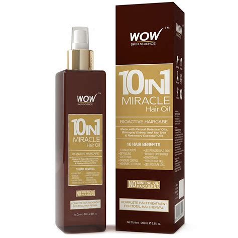 WOW 10 in 1 Miracle No Parabens and Mineral Oil Hair Oil