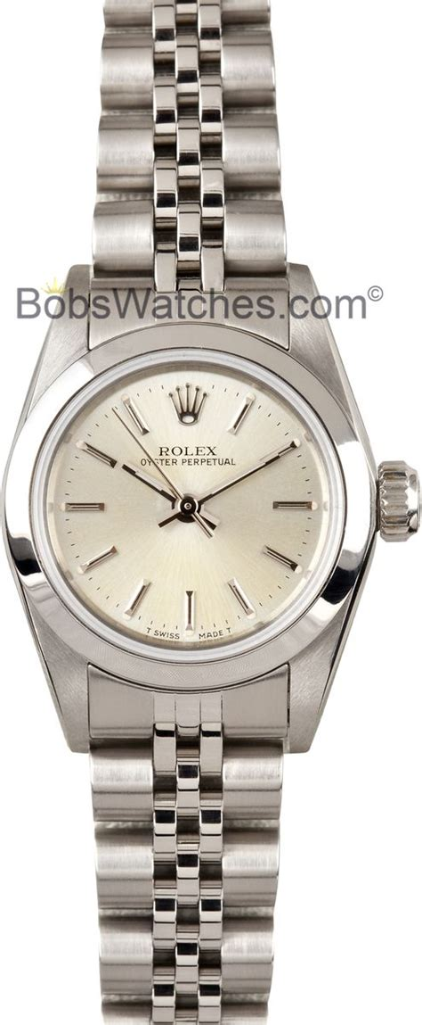 Ladies Used Rolex Oyster Perpetual Stainless Steel Watch