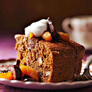 Cornmeal Pumpkin Cake with Dried Fruit Compote | Midwest